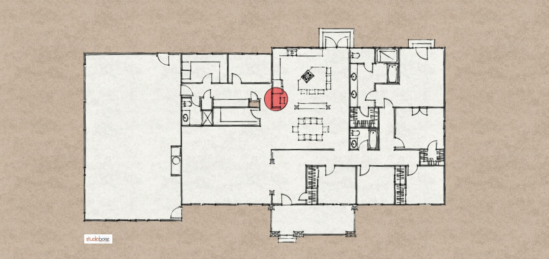 mail floorplan. Studio Boise Created A Few Floor Plan Options Improving The Flow Of Spaces And Incorporating Mail Floorplan