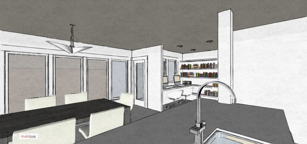 Studio Boise creates digital models allowing you to see what your new remodel space looks like before comitting.