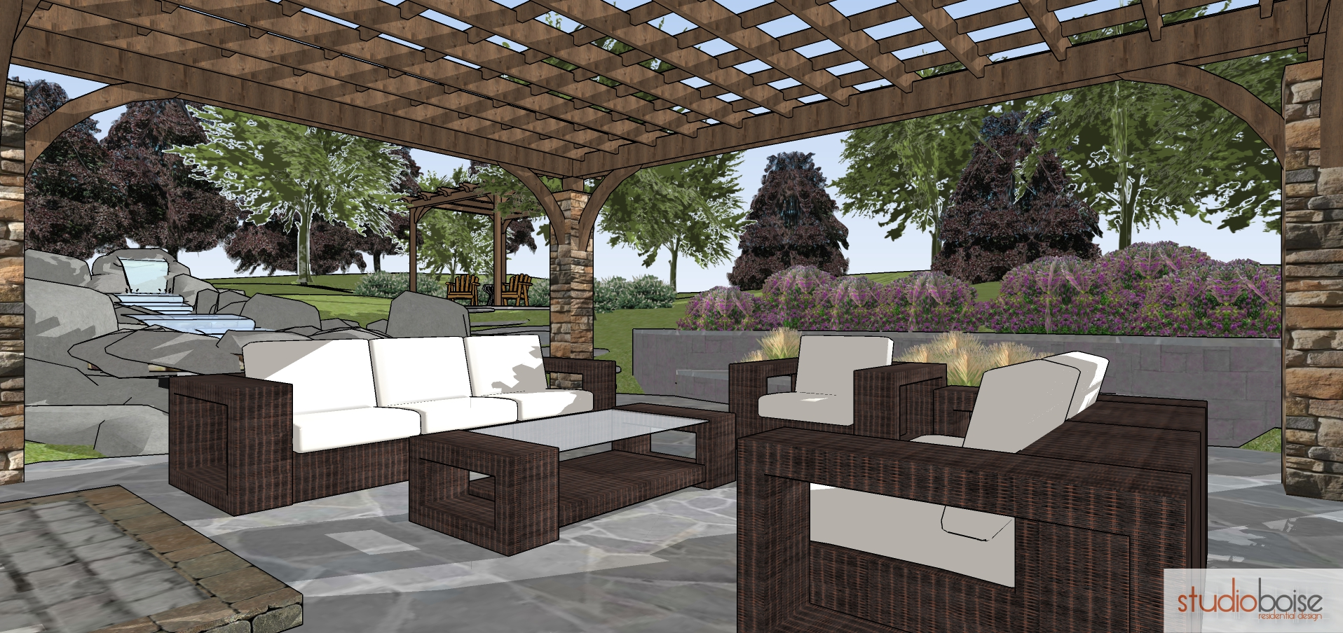 Design with landscape in mind studio boise residential for Landscape design boise