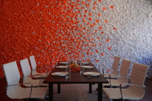 Paper wall dining